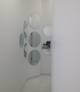 Mirrors in Hallway