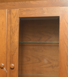 Beveled Hutch Door